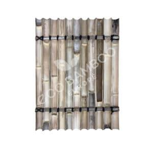 Black bamboe tuinscherm 120×90 cm achterkant