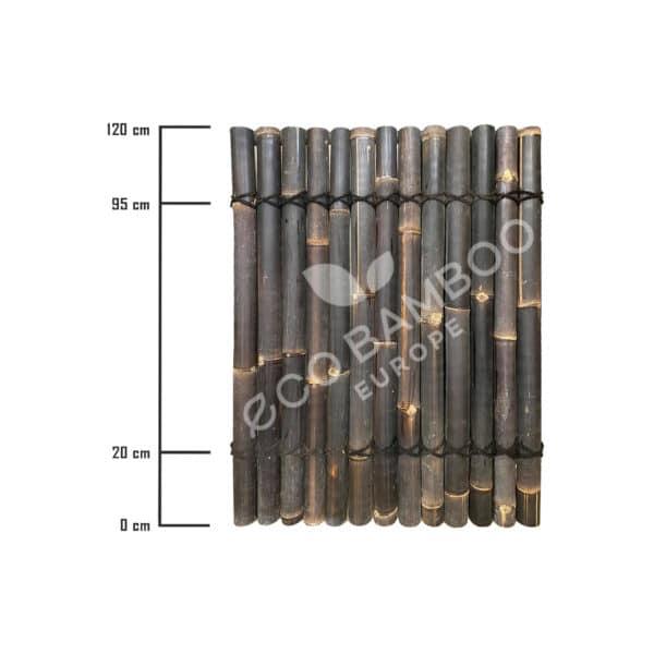 Black bamboe tuinscherm 120×90 cm afmeting