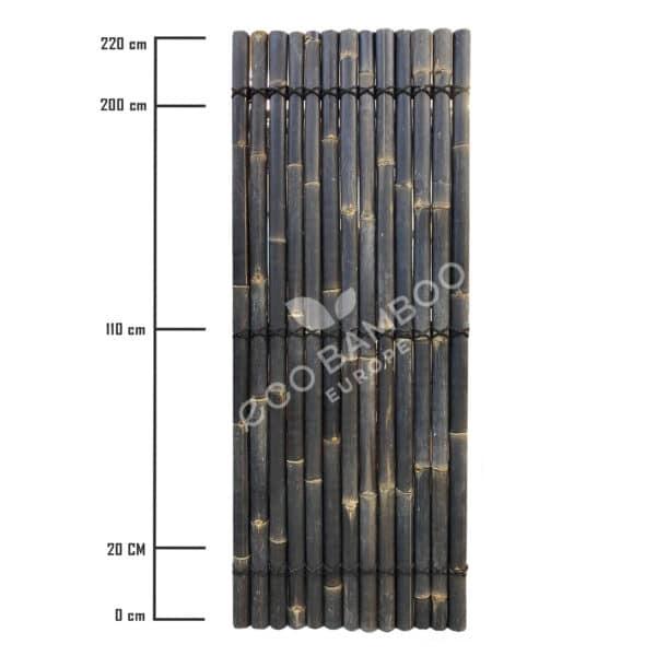 Black bamboe tuinscherm 220×90 cm afmeting