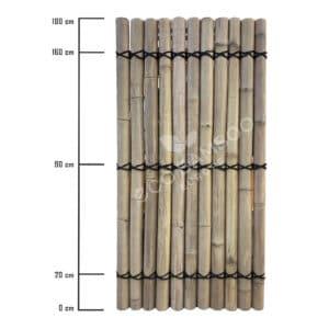 Moso bamboe tuinscherm 180×90 cm afmeting