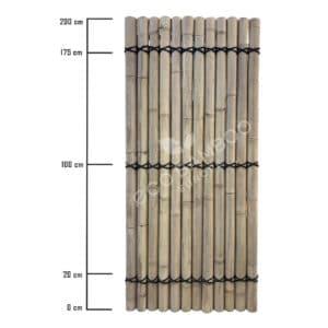 Moso bamboe tuinscherm 200×90 cm afmeting