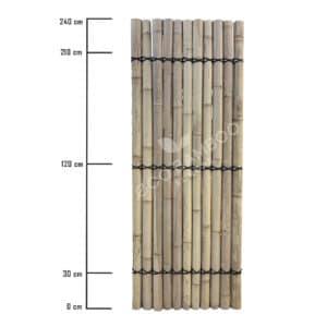 Moso bamboe tuinscherm 240×90 cm afmeting