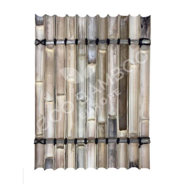 Moso bamboe tuinscherm 120×90 cm achterkant