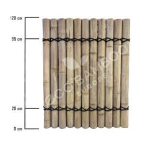 Moso bamboe tuinscherm 120×90 cm afmeting