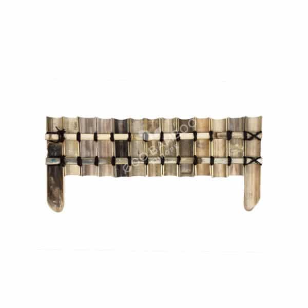 Black bamboe grasborder 100×50 cm achterkant